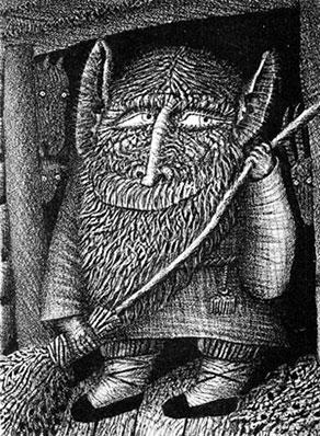 art depicting domovoi