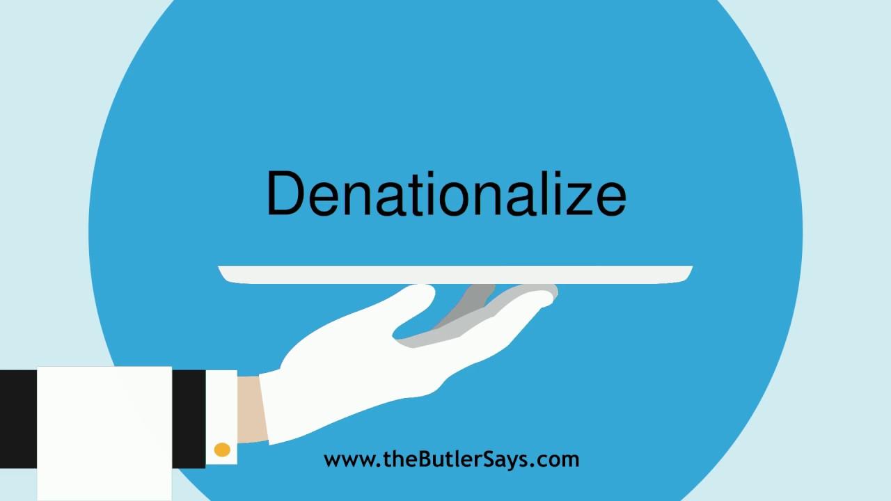 denationalize