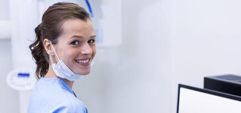 smiling dental nurse