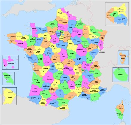 carte des départements francais departement   Liberal Dictionary