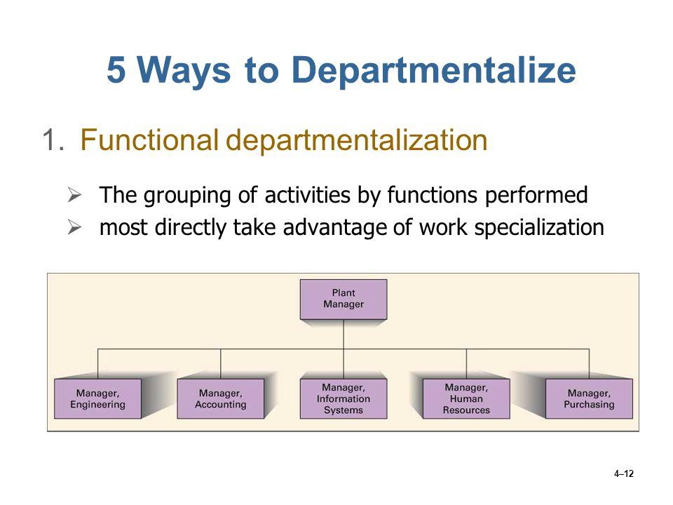 departmentalize