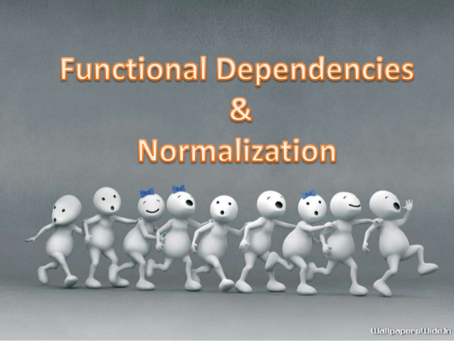 Functional dependancy. There are two levels at which we discuss the  goodness of relation schema •Logical