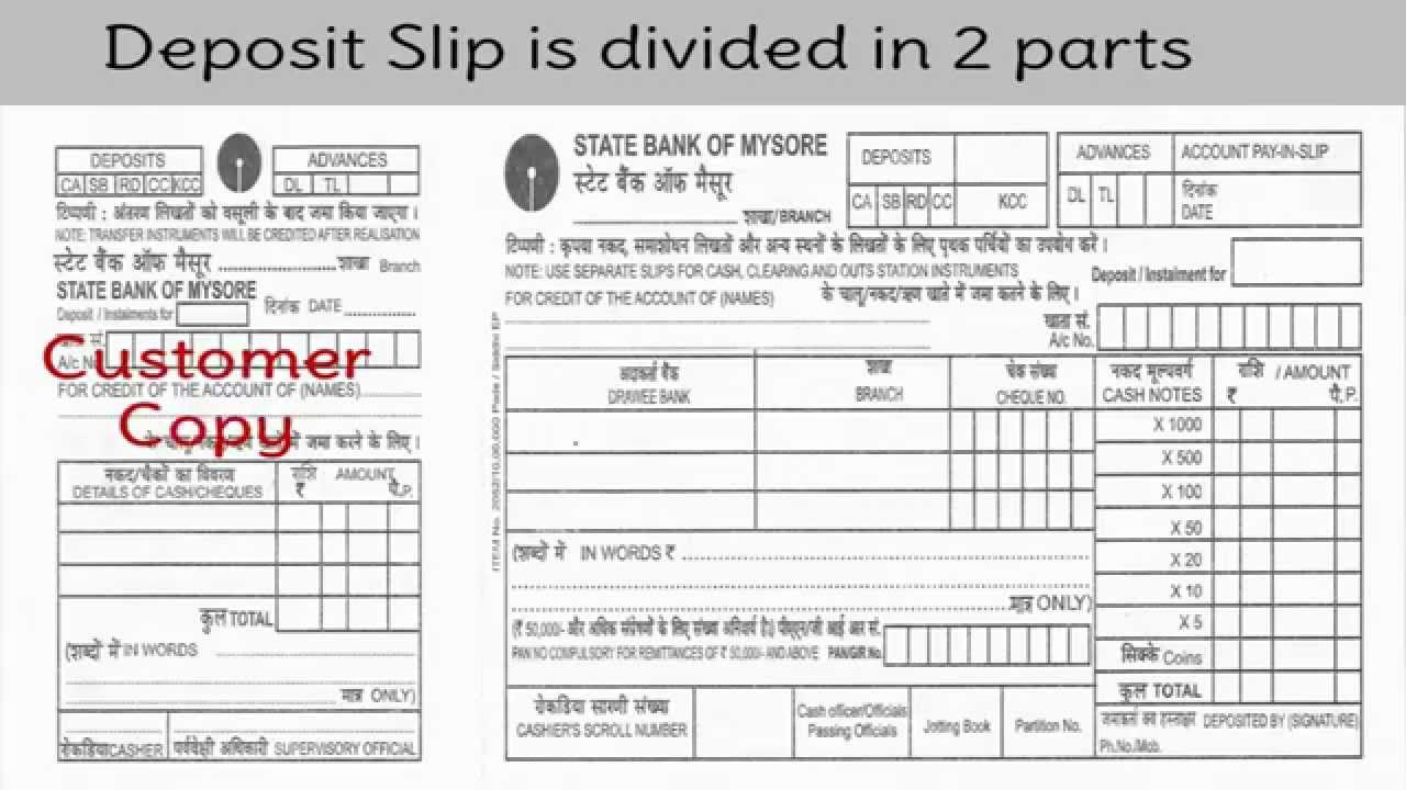 deposit form in bank  deposit slip - Liberal Dictionary