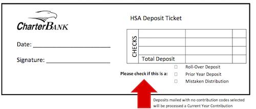 Health Savings Account Deposit Slip