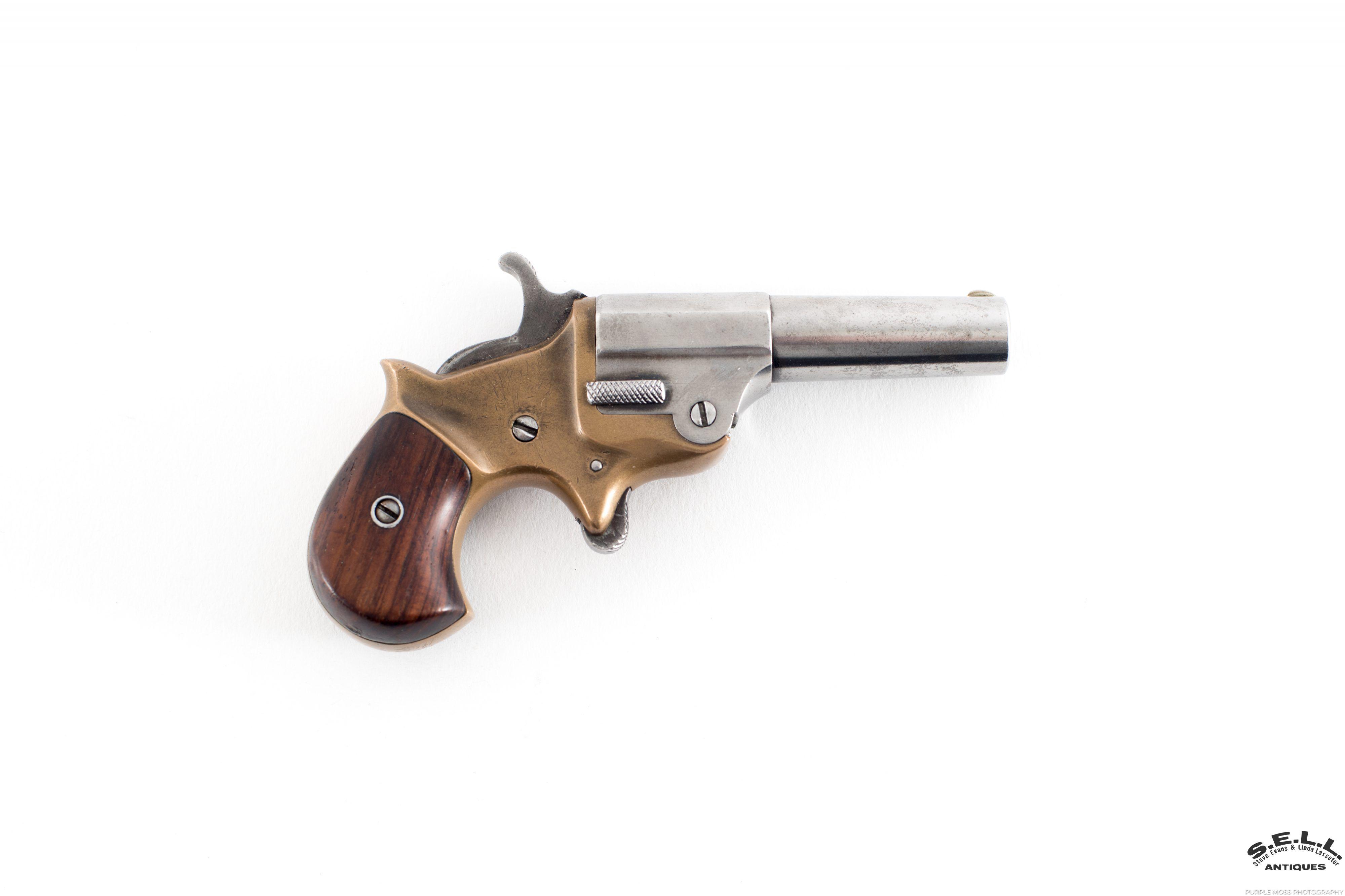 Ballard single shot deringer 41 rimfire caliber antique Worcester authentic  part octagon part round walnut grip