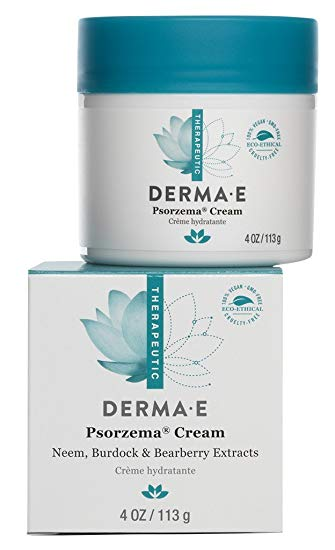 DERMA E Psorzema Cream, Natural Relief for Scaling, Flaking, and Itching, 4