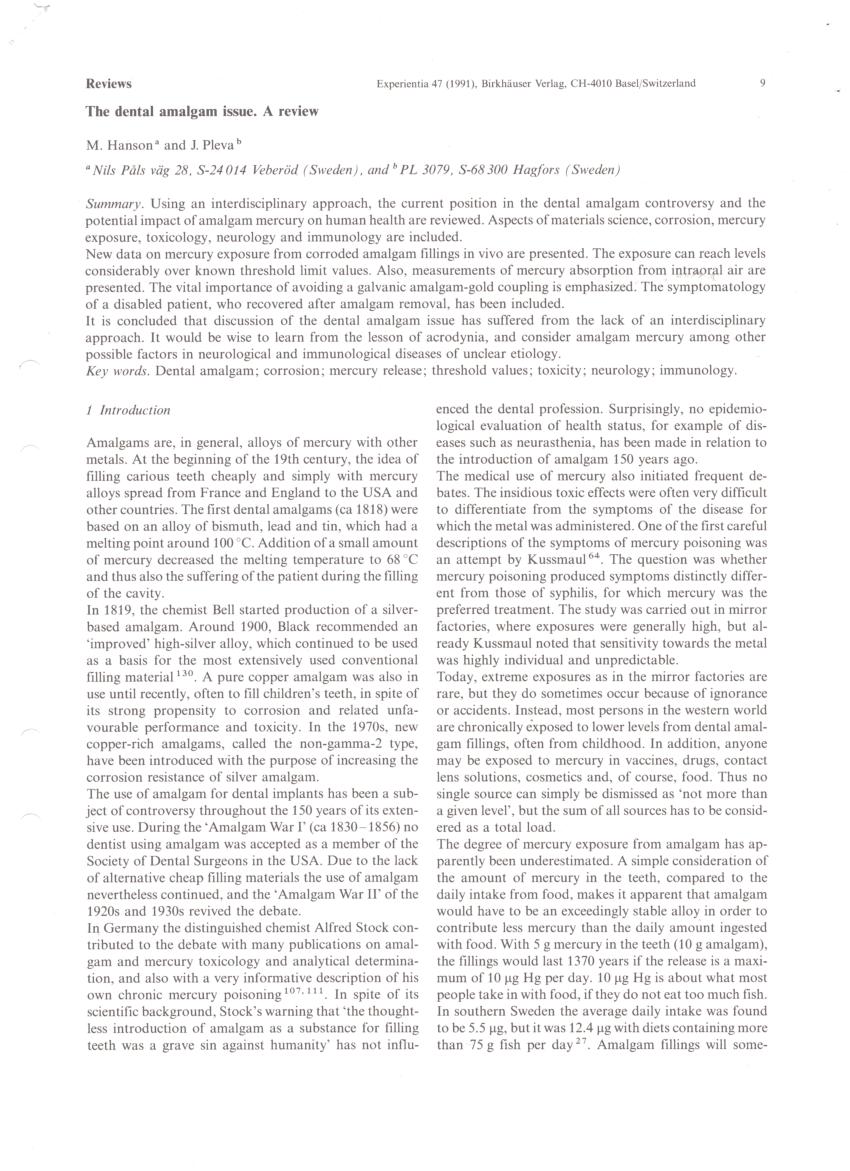 (PDF) Mercury and Acrodynia