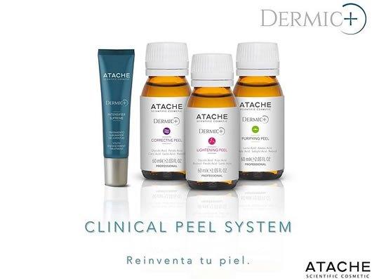 DERMIC PLUS es un tratamiento de renovación epidérmica desarrollado por  dermatólogos, obteniendo un novedoso sistema de peeling quimico que ayuda a
