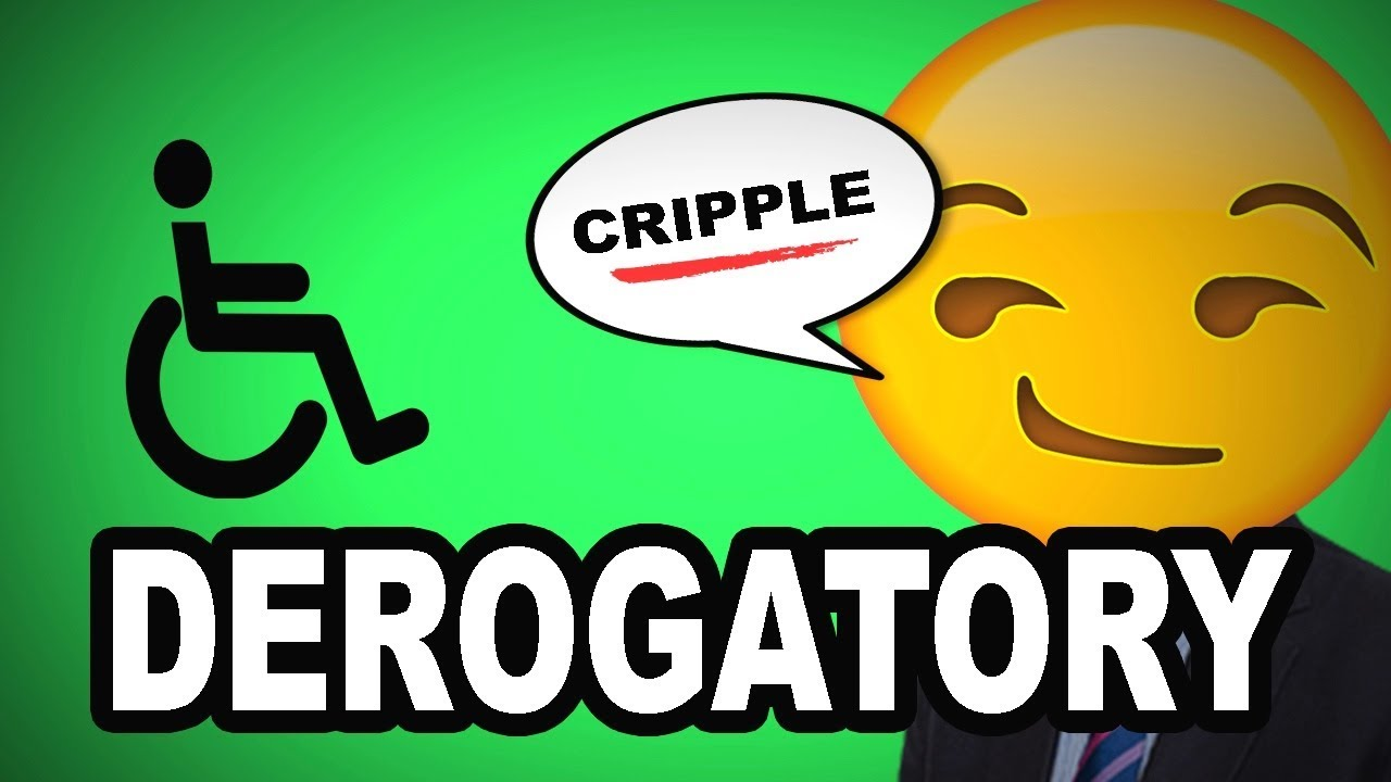 Learn English Words - DEROGATORY - Meaning, Vocabulary Lesson with Pictures  and Examples