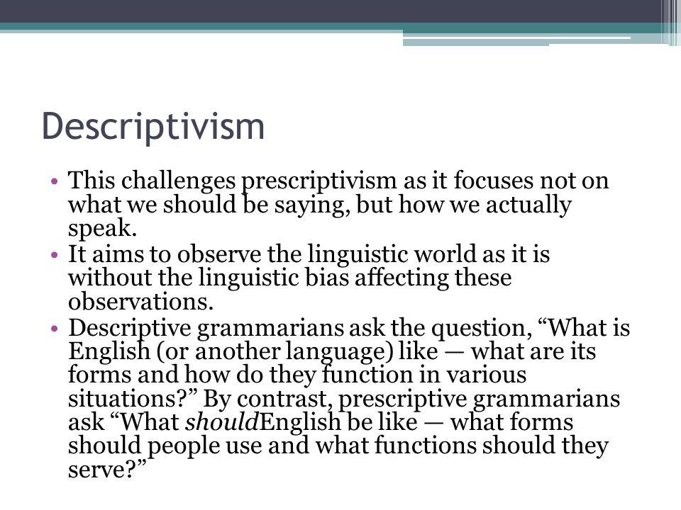 Preskriptivismi