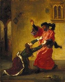 Desdemona Cursed by her Father (Desdemona maudite par son père) by Eugène  Delacroix, Brooklyn Museum