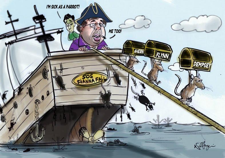 Rats desert sinking ship