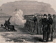 The execution of a U.S. deserter in the Federal Camp, Alexandria