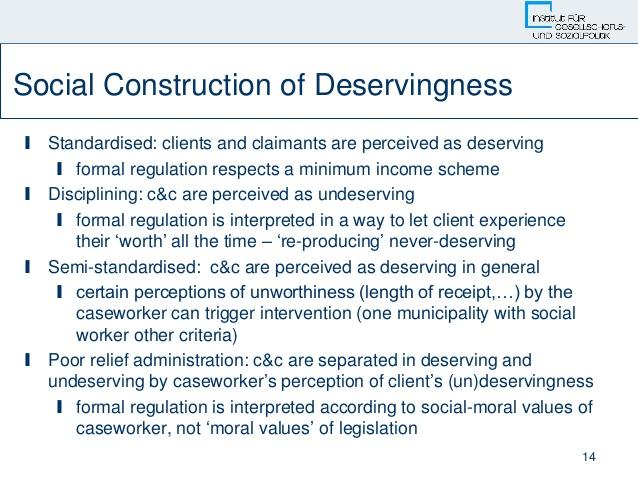 14. 14 Social Construction of Deservingness