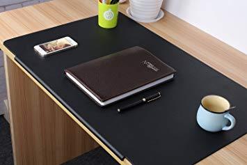 Ultra-Smooth Writing Pad Desk Mat for Desktops and Laptops Desk Pad, (Black