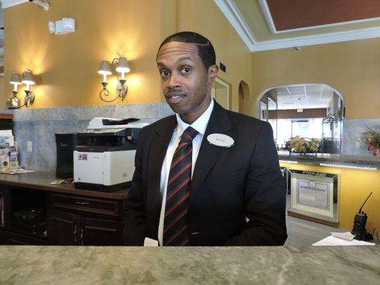 Jefferson Clinton Hotel: Devon is a great front desk person!