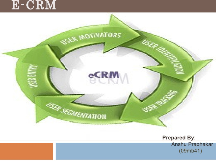 E-CRM Prepared By : Anshu Prabhakar (09mb41)