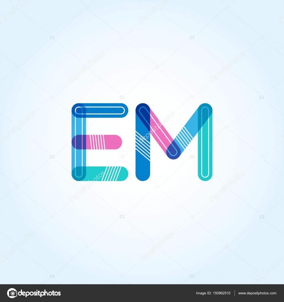 Logotipo de letras em conectado — Vector de stock