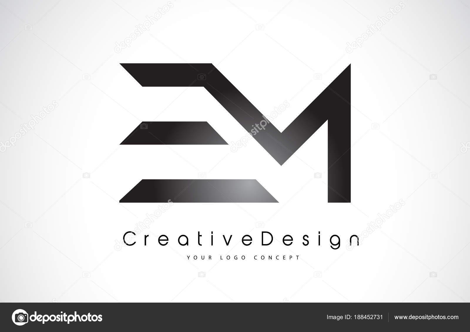 Em E M logotipo de la letra. Vector de cartas moderno icono creativo L —  Vector