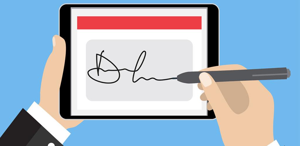 View Larger Image e-signature illustration