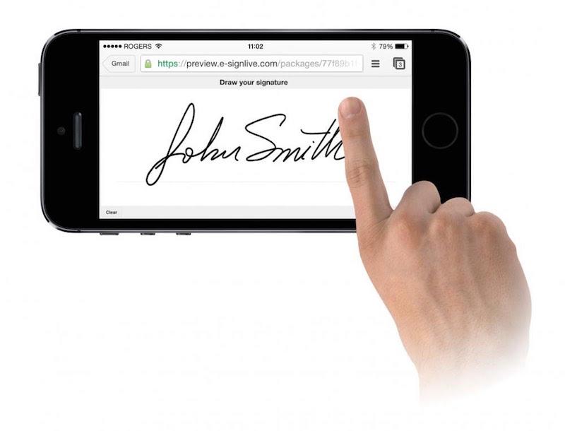 Mobile e-signatures in eSignLive