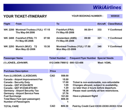 Electronic ticket