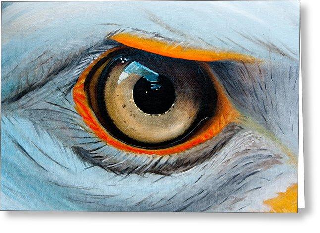 Eagle Eye Greeting Card by Alex Rios