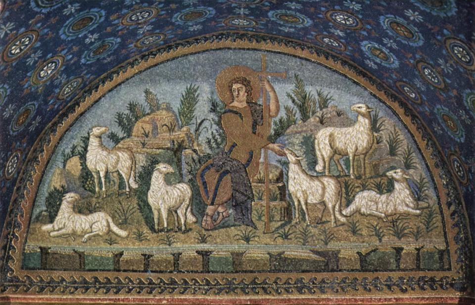 Jesus as the Good Shepherd, Mausoleum of Galla Placidia, Ravenna
