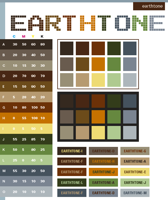 Earth tone color scheme