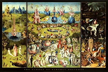 Hieronymus Bosch Garden of Earthly Delights Art Print Poster 36 x 24in