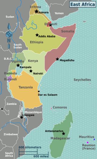East Africa regions