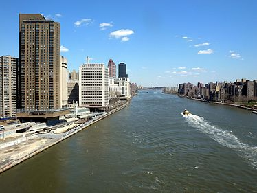 The East River flows past the Upper East Side