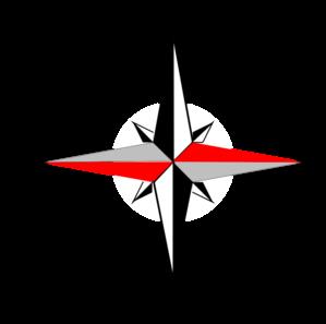 East West Compass Six Clip Art