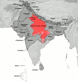 east2726 (Eastern Hindi). {{{mapalt}}}