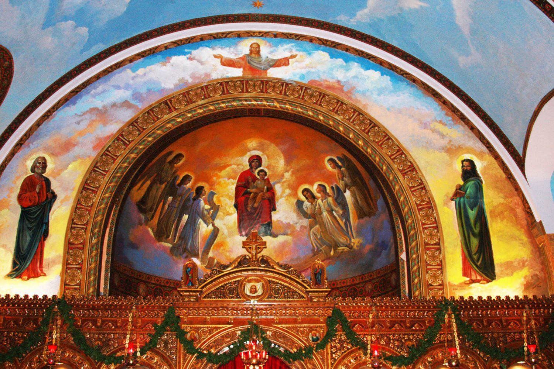 St.+Nicholas%3A+Frescoes+adorn+the+interior+of