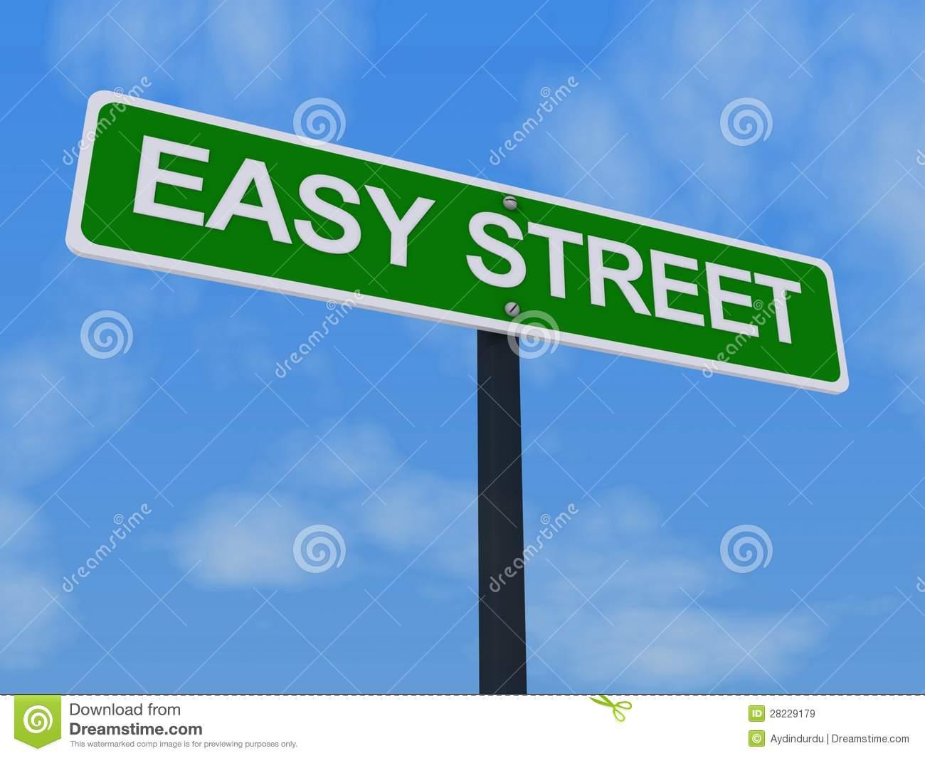 Señal de tráfico de Easy Street