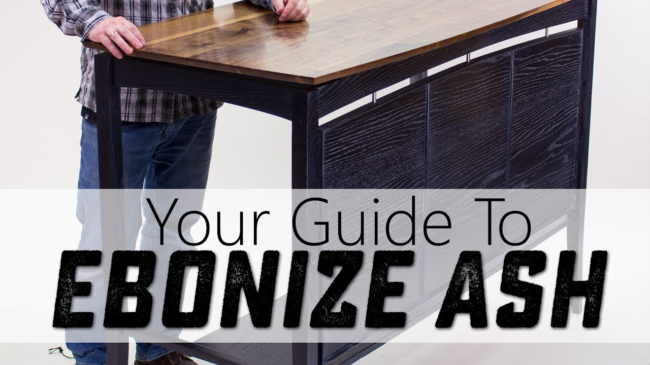 A Great Way to Ebonize Ash for Woodworking Projects