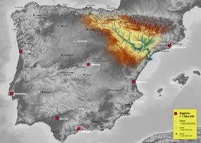 Cuenca hidrográfica del Ebro.