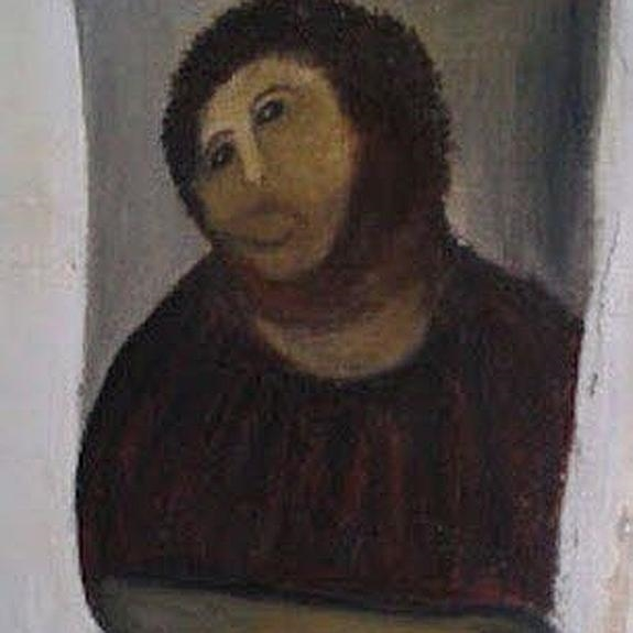 La pintura del Ecce Homo del Santuario de la Misericordia de Borja.