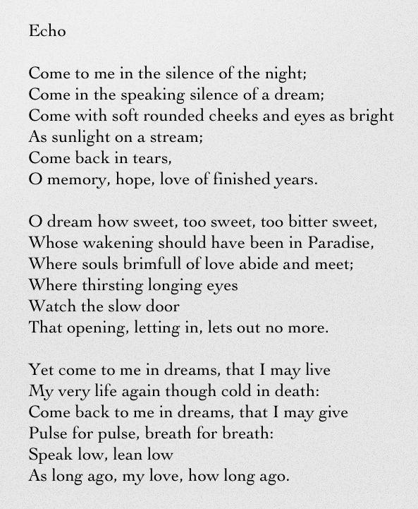 echo-poem -probably by christina rosseti