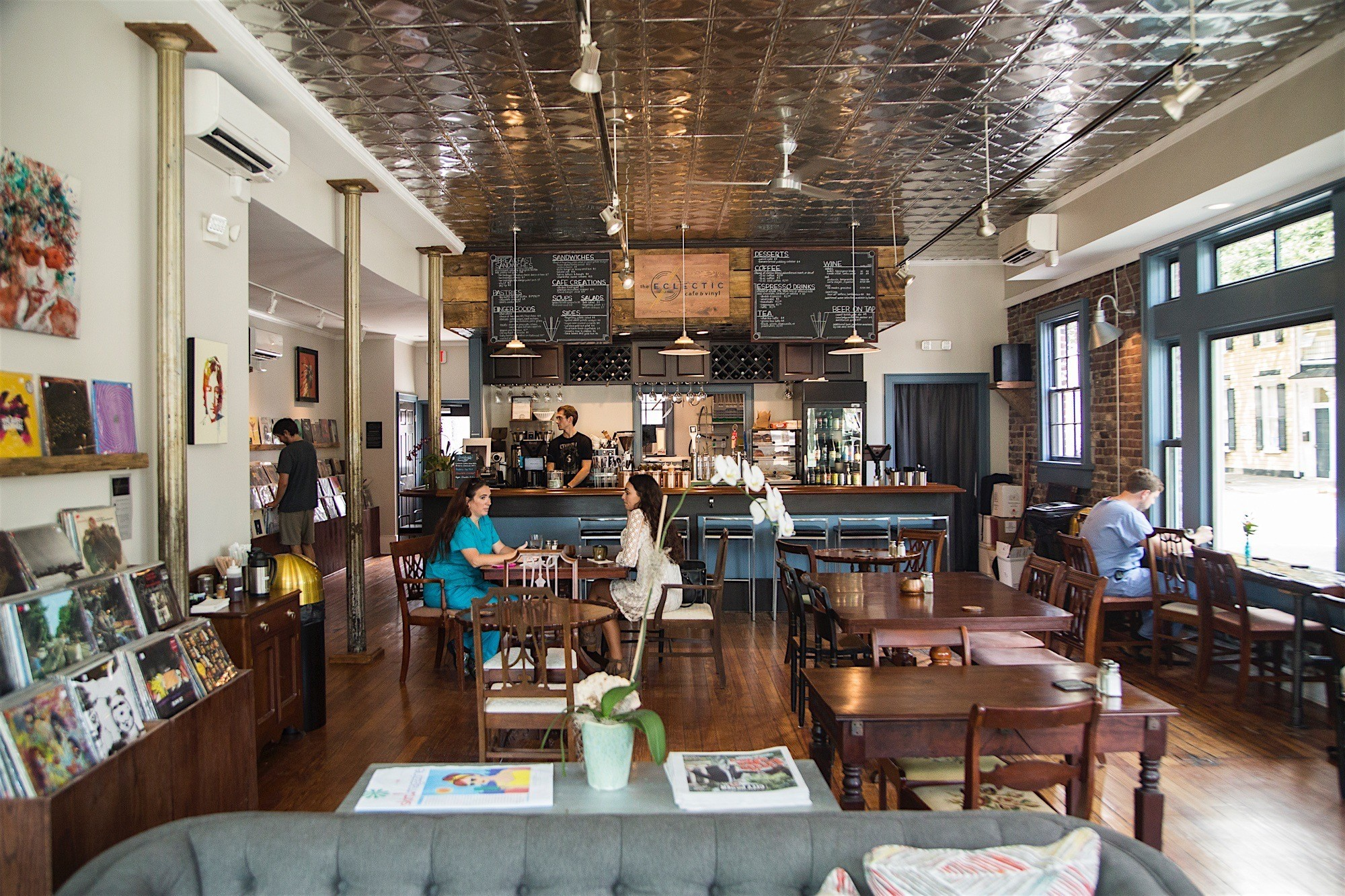 click to enlarge Eclectic Cafe & Vinyl often served as a performance space  for musicians, poets, and