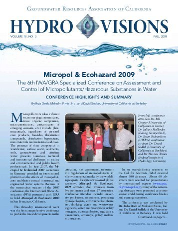 Micropol & Ecohazard 2009 - Groundwater Resources Association .