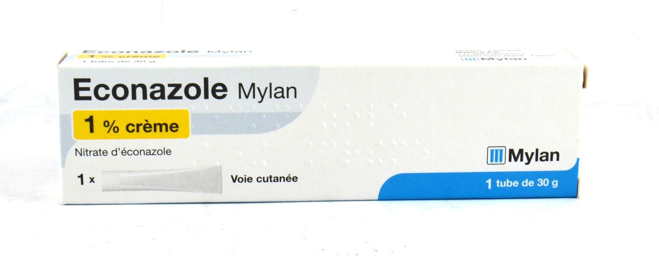 ECONAZOLE MYLAN 1%, crème 30g, Traitements des mycoses et affections  cutanées dues à