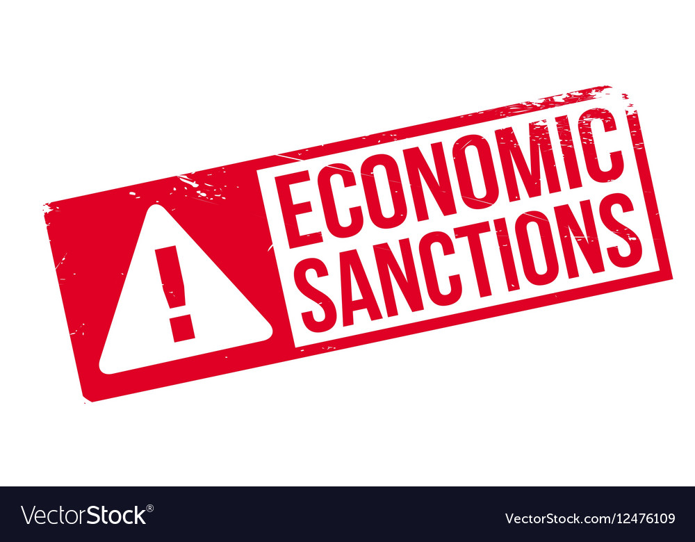 Economic Sanctions rubber stamp vector image