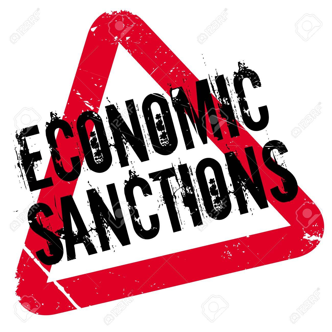 Economic Sanctions rubber stamp. Grunge design with dust scratches. Effects  can be easily removed