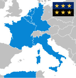 Founding members of the ECSC: Belgium, France, Italy, Luxembourg, the  Netherlands