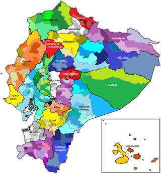 Cantones de la República del Ecuador.