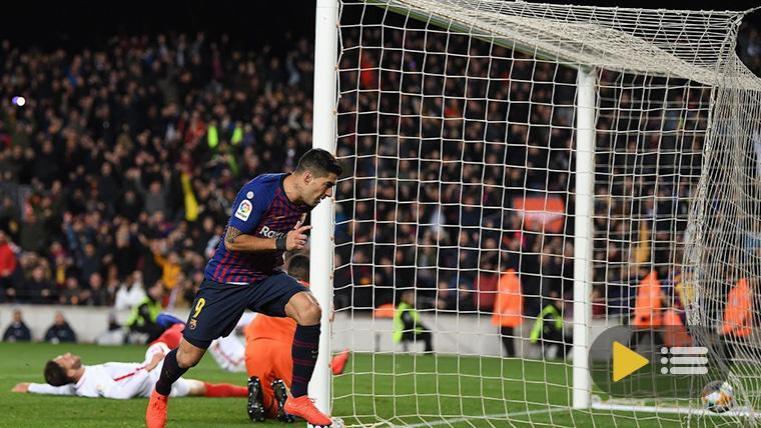 Vídeo resumen, goles y mejores jugadas del FC Barcelona-Sevilla (6-1),  relativo a la vuelta de cuartos de la Copa del Rey 2018-19.