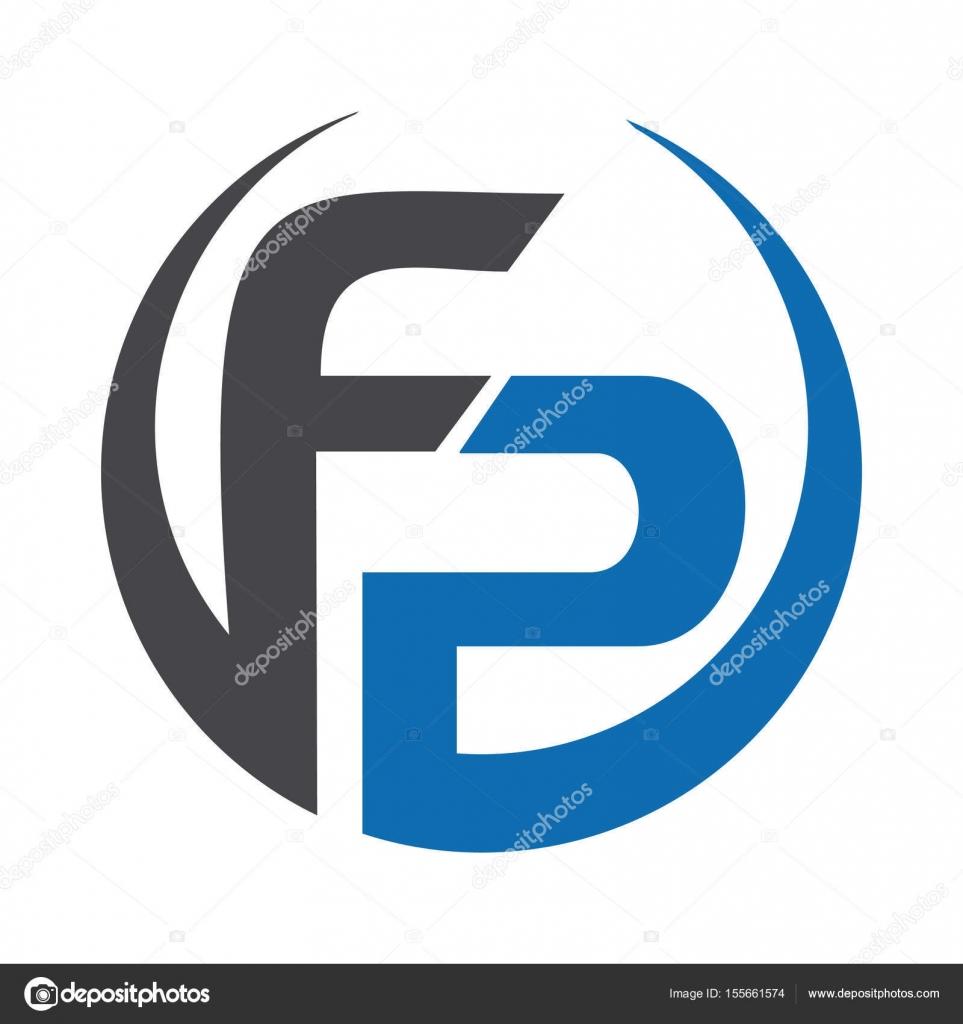 Letra de FP empresa vecctor logotipo — Archivo Imágenes Vectoriales