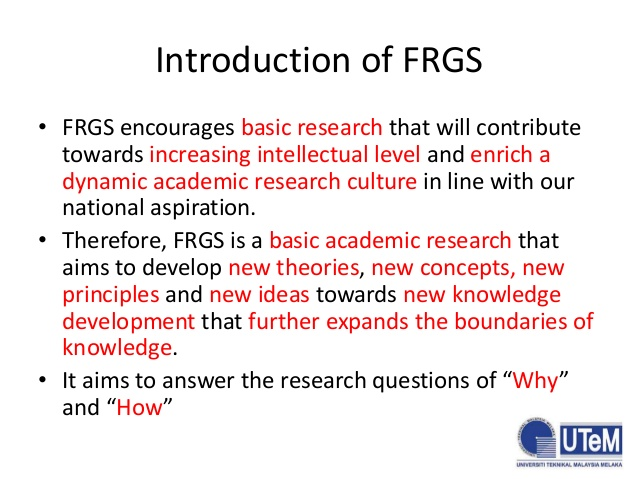 5. Introduction of FRGS